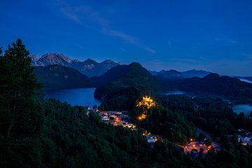 Schloß Hohenschwangau in der blauen Stunde von Tobias Reißbach