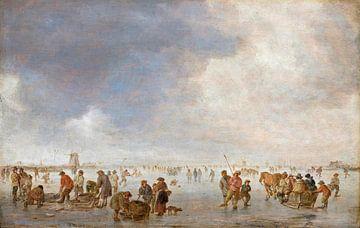 Winterszene auf dem Eis, Jan van Goyen