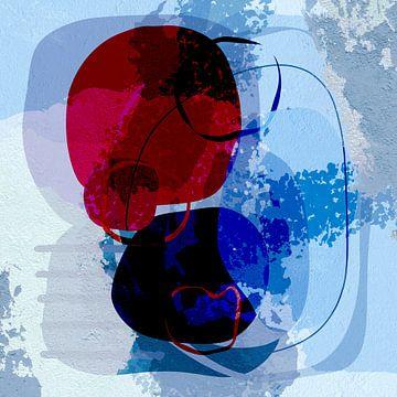 moderne kunst blauw van Andreas Wemmje