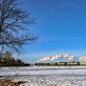 Course de Roland en hiver près de Lonvitz/Putbus sur l'île de Rügen sur GH Foto & Artdesign