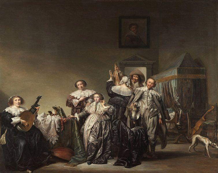 Galant gezelschap, Pieter Codde van Meesterlijcke Meesters