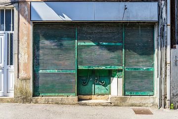 Groene Deur in Vila Nova de Gaia van Stefaan Tanghe