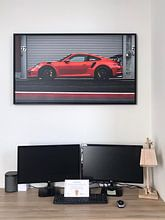 Kundenfoto: Porsche 991 GT3 RS von Ansho Bijlmakers, auf leinwand