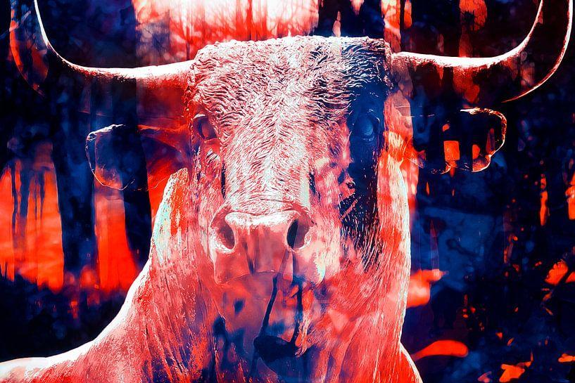 Stoere stier van Nannie van der Wal