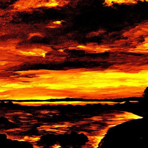 Sunset On Fire van
