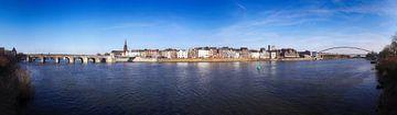 Panorama Maastricht auf der Maas von Pascal Lemlijn
