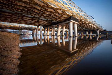 Die Eisenbahnbrücken der Königlichen Welchbrücke, s'-Hertogenbosch, Niederlande von Marcel Bakker