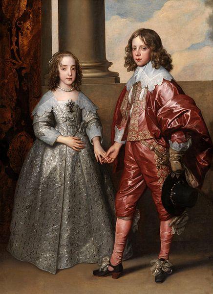 Willem II en zijn bruid Maria Stuart, Anthony van Dyck - 1641 van Het Archief