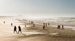 Winderig dagje strand