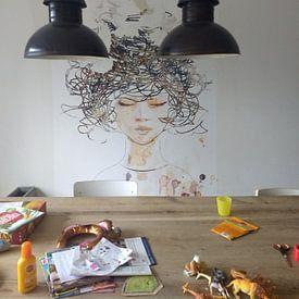 Klantfoto: Peace on my Mind van Jacky Gerritsen, op behang