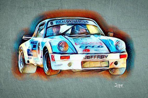 Porsche 911 -6 van JiPé digital artwork