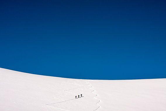 """Winterlandschap """"Skitoeren"""""""