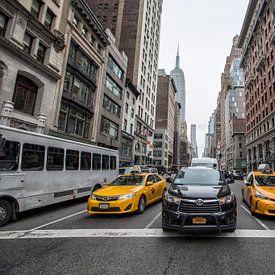 New York Yellow cab van Kelly van den Brande