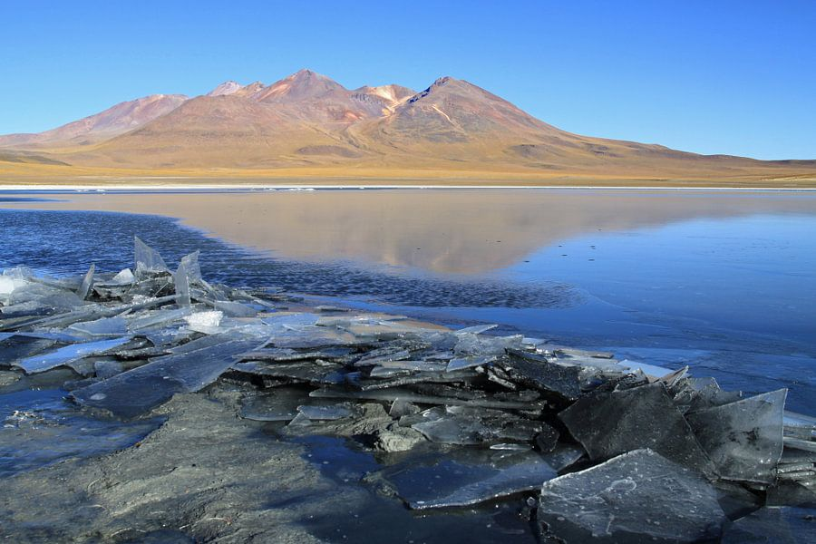 Meer in de Atacama woestijn