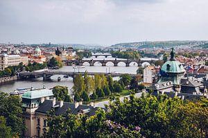 Praag - Uitzicht over de rivier de Vltava van