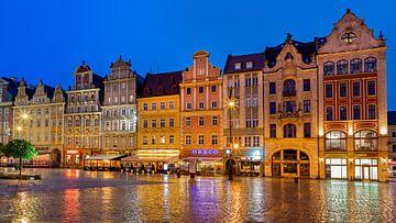 Wrocław bij avond, Polen van Adelheid Smitt