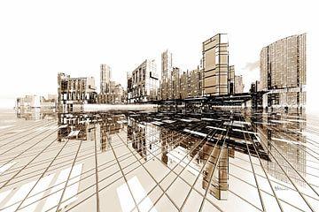futuristische Architektur Stadt Poster-City von Max Steinwald