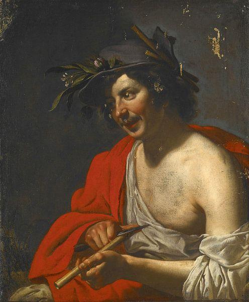 Jan van Bijlert, Herder schneidet eine Flöte - 1630er Jahre von Atelier Liesjes