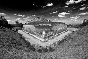 Fort Sint Pieter Maastricht zwart / wit van