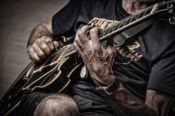 gitaarspeler van Bob Van Hoyweghen