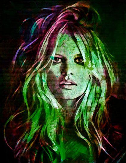 Brigitte Bardot Fashion Pop Art