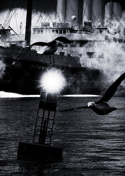 Retro – Klassiek Titanic de afvaart begeleid door meeuwen van Jan Keteleer