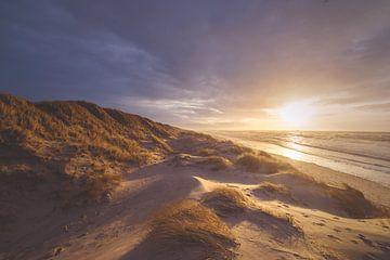 Zonsondergang in een Deens duinlandschap van Florian Kunde