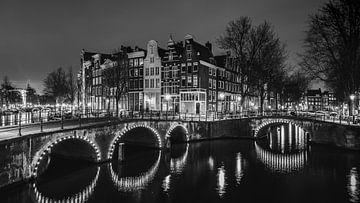 Amsterdamer Grachten (B&W) von Dennis Wierenga