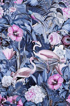 Flamingos im Mitternachts Dschungel von Andrea Haase
