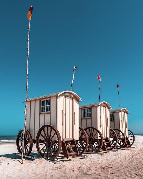 Chariots de bain historiques sur Norderney sur Steffen Peters