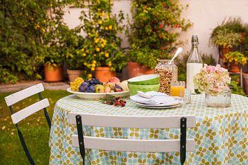 Petit déjeuner dans le jardin sur Werner Dieterich