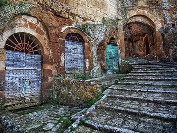 Straten van Pitigliano (Toscane, It) van BHotography