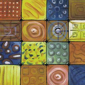 Abstract kleurrijk schilderij | Abstract 748 van Kunst Company