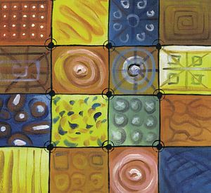 Abstract kleurrijk schilderij   Abstract 748