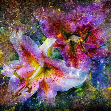 Flowers wit paint van Freddy Hoevers