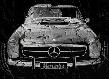 Grunge Zwarte Mercedes von Nicky`s Prints