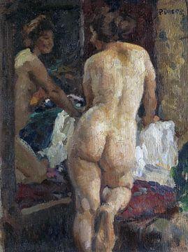 Weiblicher Akt vor dem Spiegel, Paul paede - 1929