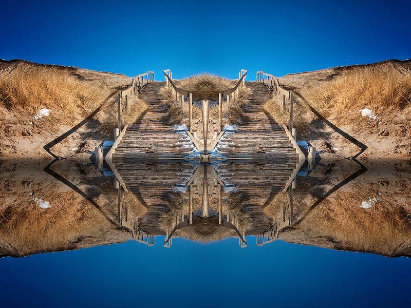Treppe vom Wasser in den Himmel von Peter Roder