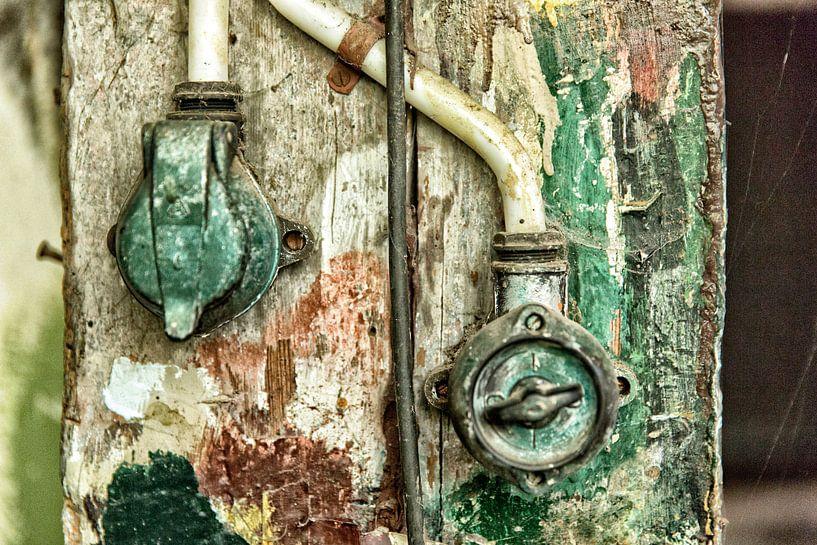Lichtschakelaar met stopcontact van Jan Sportel Photography