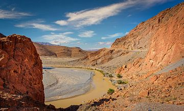 Panorama des Atlasgebirges . Marokko von Rietje Bulthuis