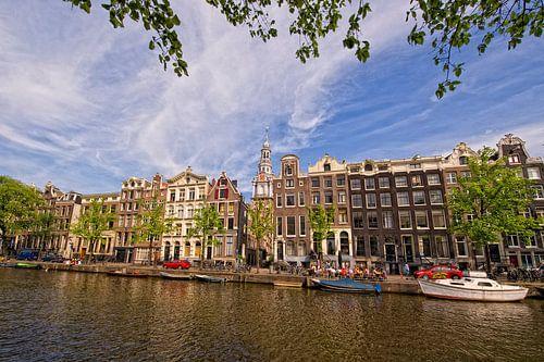 Amsterdam, Zuiderkerk vanaf Kloveniersburgwal van