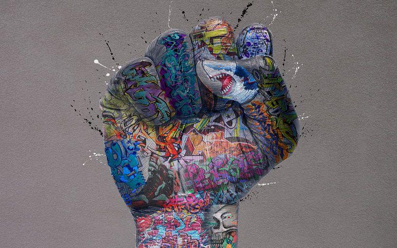 Geballte Graffiti-Faust von Rene Ladenius Digital Art