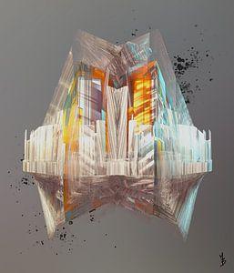 Weiße Zukunftsstadt von Marc Brinkerink