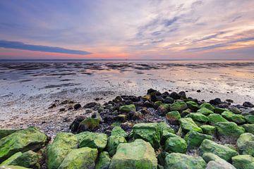 Zonsondergang vanaf Schiermonnikoog van