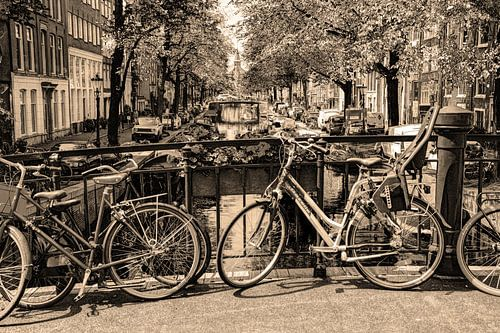 Jordaan Egelantiersgracht Amsterdam Nederland Sepia