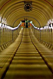 Hamburg: de oude Elbe tunnel