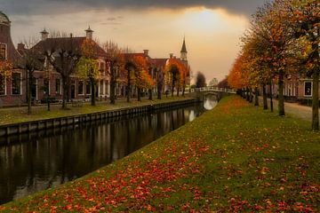Herfst in Sloten Friesland van Claudia De Vries