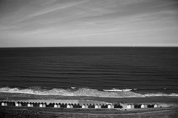 Meereswellen und Strandhäuser von Wytze Plantenga