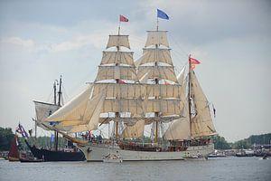 Tallship De Europa bij de parade van SAIL Amsterdam 2015