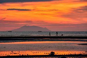 Zonsondergang Bali van Coby Bergsma